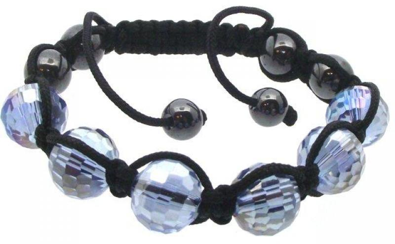 Blue Coloured Crystal Glass Bracelet